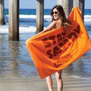 Premium Velour Beach Towel (Color Towel, Embroidered)
